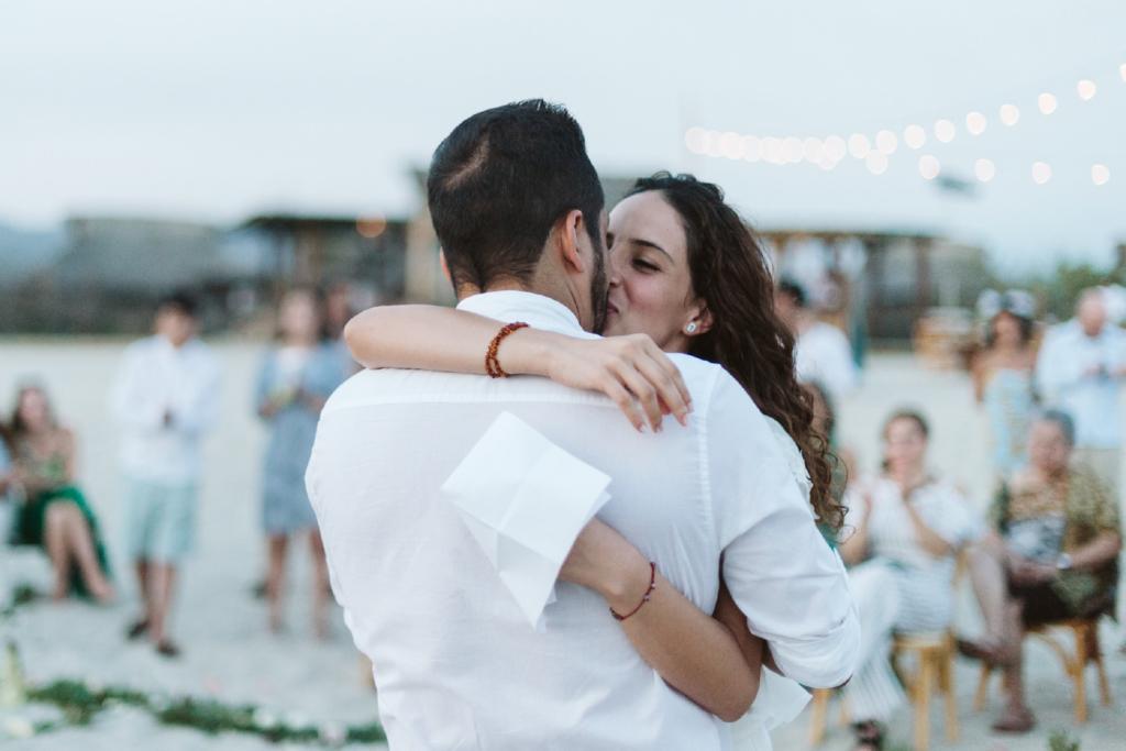 Mandala Beach Wedding - The Kiss