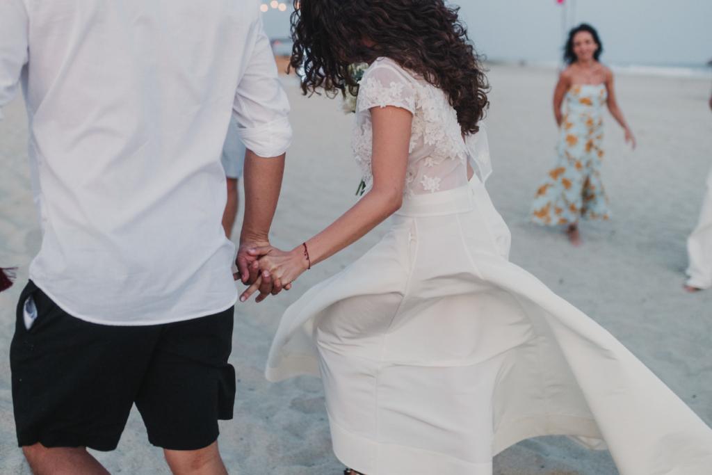Mandala Beach Wedding - Bride and Groom